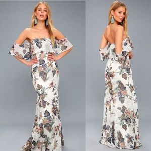 Lulu's NWT Ray Of Sunshine Floral Maxi Dress 517